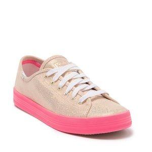 NEW Keds Women's Iridescent Gold Sneakers